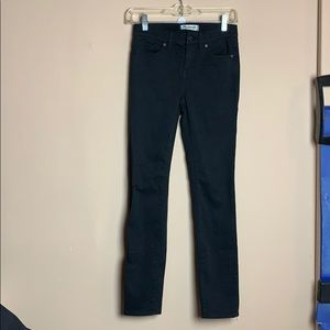 Madewell High Riser Skinny Black Jeans B1708